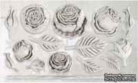Молды от IOD - Heirloom Roses 6x10 Decor Moulds™, 15x26 см
