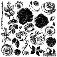 Штампы от IOD - Painterly Roses 12x12 Decor Stamp, 30x30 см
