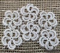 Декор гипюровый - цветочный комплект от Allmacrfat, 6 цветочков