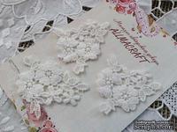 Декор гипюровый -  ажурный цветочный элемент от Allmacrfat, 6 см