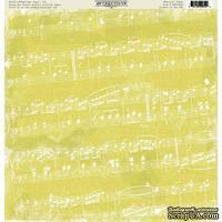 Лист скрапбумаги Authentique Musical, 30х30 см, односторонняя
