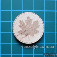 Деревянный декор от Вензелик - Круглячок 02, диаметр 28 мм - ScrapUA.com