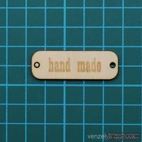 """Деревянное украшение от Вензелик - Бирка """"Hand made"""", размер: - ScrapUA.com"""