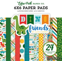 Набор бумаги Dino Friends, 15х15см, Echo Park, 24 листа