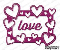 Ножи от Impression Obsession - Heart Frame - Рамочка с сердечками и надпись Love