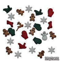 Набор декоративных пуговиц Dress It Up - Christmas Miniatures