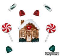 Набор декоративных пуговиц Dress It Up - Candy Cottage