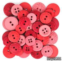 Набор декоративных пуговиц Dress It Up - Berry