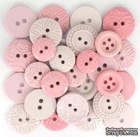 Набор декоративных пуговиц Dress It Up - Pink