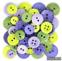 Набор декоративных пуговиц Dress It Up - Lavender Sache