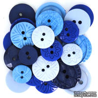 Набор декоративных пуговиц Dress It Up - Blue