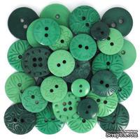 Набор декоративных пуговиц Dress It Up - Green
