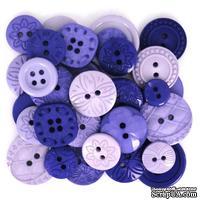 Набор декоративных пуговиц Dress It Up - Purple