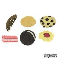 Набор декоративных пуговиц Dress It Up - In the Cookie Jar