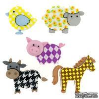 Набор декоративных пуговиц Dress It Up - Funky Farm