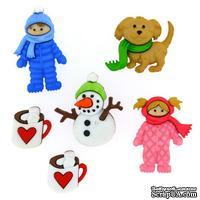 Набор декоративных пуговиц Dress It Up - Fun in the snow