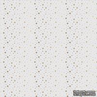 Ацетатный лист в золотые звезды от Gold Foil Dots On Acetate, 30х30 см
