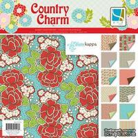 Набор скрапбумаги GCD Studios - Country Charm Collection, 12 двусторонних листов, размер 30х30 см