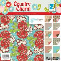 Набор скрапбумаги GCD Studios - Country Charm Collection, 24 двусторонних листа, размер 30х30 см