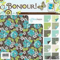 Набор скрапбумаги GCD Studios - Bonjour Collection, 12 двусторонних листов, размер 30х30 см