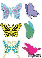 Лезвие от Cheery Lynn Designs - Small Exotic Butterflies #1 w/Angel Wings - DL112AB