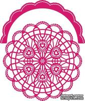 Нож для вырубки от Cheery Lynn Designs - Candy Hearts Doily with Angel Wing