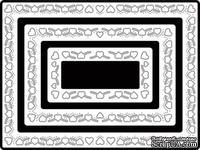 Нож для вырубки от Cheery Lynn Designs - Heart Rectangle Boutique Stacker Frames