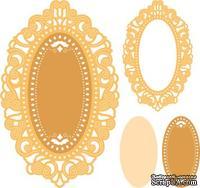 Нож для вырубки Cherry Lynn Designs - Mirror Mirror Doily Frame, 3 шт.