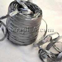 Рафия натуральная, цвет серебро, 1 метр
