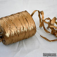Рафия натуральная, цвет золото, 1 метр
