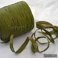 Рафия натуральная, цвет оливковый, 1 метр