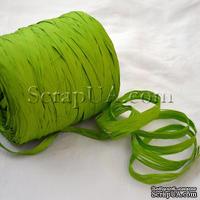 Рафия натуральная, цвет зеленый свежий, 1 метр