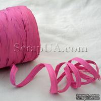 Рафия натуральная, цвет ярко-розовый, 1 метр