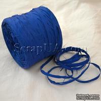Рафия натуральная, цвет синий, 1 метр