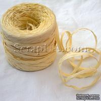 Рафия натуральная, цвет кремовый, 1 метр