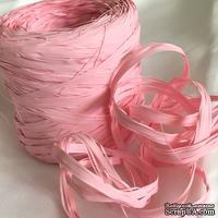 Рафия натуральная, цвет нежно-розовый , 1 метр