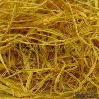 Рафия натуральная, цвет желтый, 55-70 г