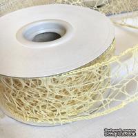 Лента-сетка с жестким кантом, цвет кремовый, шир. 5 м, длина 90 см - ScrapUA.com