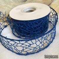 Лента-сетка с жестким кантом, цвет синий, шир. 5 м, длина 90 см