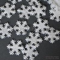 Снежинки фетровые, белые, 3 см, 50 шт.