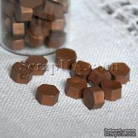 Воск для сургучной печати, цвет бронза коричневая, 8х8х4 мм, 1 штука
