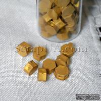Воск для сургучной печати, цвет золото, 8х8х4 мм, 1 штука