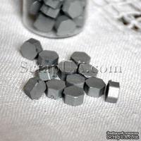 Воск для сургучной печати, цвет серебро, 8х8х4 мм, 1 штука
