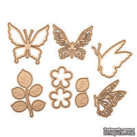 Ножи от Spellbinders - Butterfly Flutter Die Set -Small Die of the Month Club