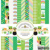 Набор кардстока от Doodlebug Cardstock - happy-go-lucky, двусторонний, 30,5 x 30,5 см