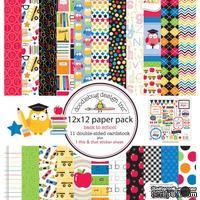 Набор кардстока от Doodlebug Cardstock - back to school, двусторонний, 30,5 x 30,5 см