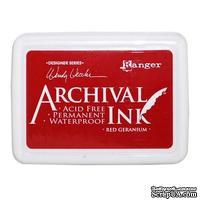 Архивные чернила Ranger - Wendy Vecchi - Archival Ink Pads - Red Geranium