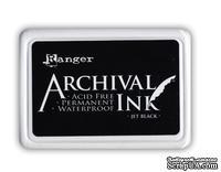 Архивные чернила Ranger - Archival Ink Pads - Jet Black, черные