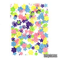 Пайетки Flowers цветочки, 20 г, TM dpCraft (Dalprint)