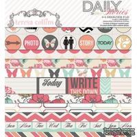 Набор двусторонней скрапбумаги Teresa Collins - Daily Stories - Pad, размер 15х15 см